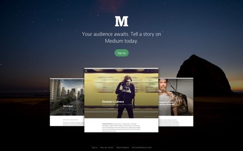 Medium website