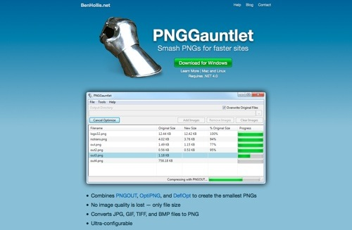 PNGGauntlet website