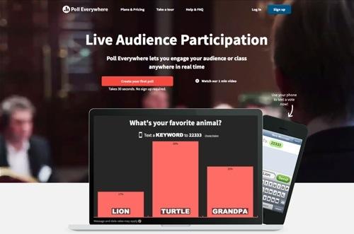 Poll Everywhere website