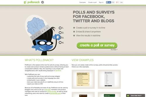 PollSnack website