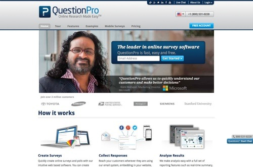 QuestionPro website