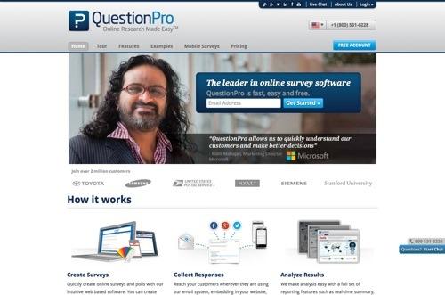 QuestionPro website