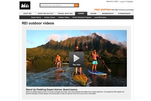 REI outdoor videos.