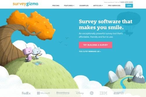 Survey Gizmo website