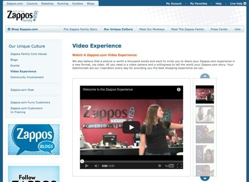 "Zappos.com: ""Video Experience."""