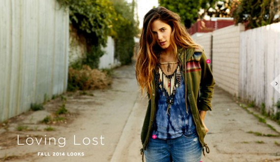 Roxy is another clothing retailer that uses a lookbook to show off the best in Fall fashion.