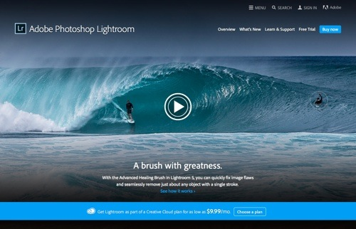 Adobe Photoshop Lightroom website