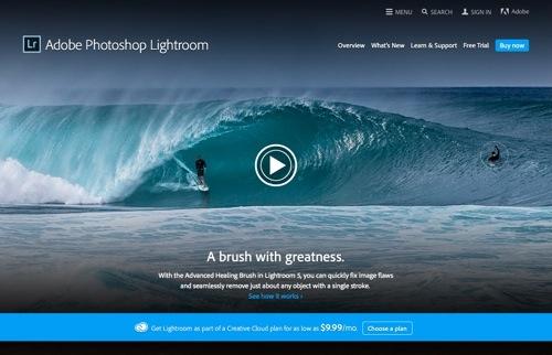 Adobe Photoshop Lightroom website
