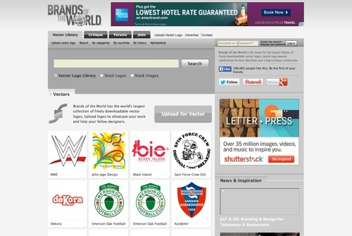 Brands of the World website
