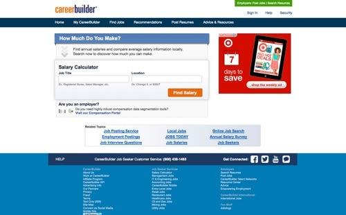 CareerBuilder - Salary Calculator