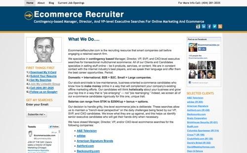 EcommerceRecruiter.com website