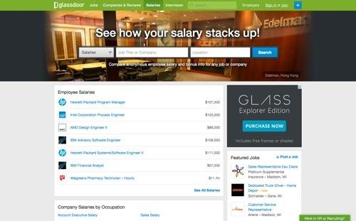 Glassdoor website
