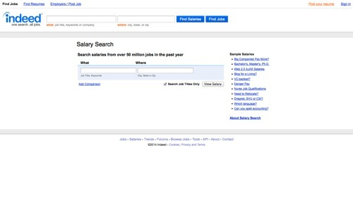 Indeed - Salary Search