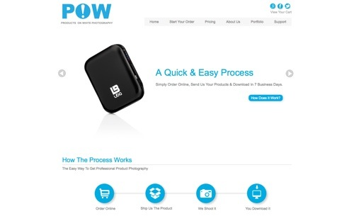 POW Product Photography website