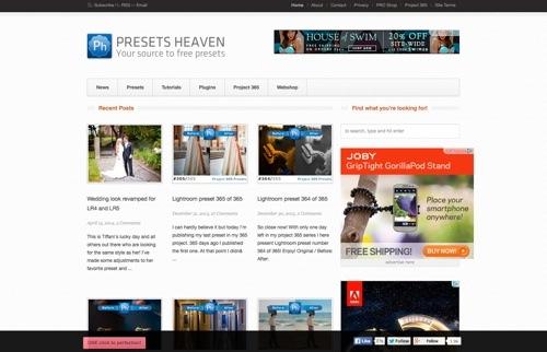 Presets Heaven website