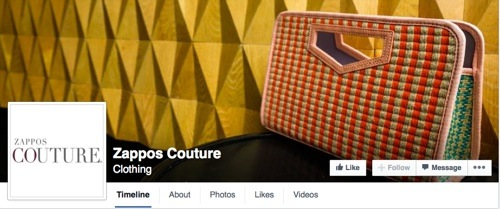Zappos Couture on Facebook
