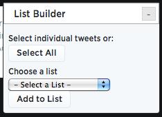 Google Chrome list builder widget
