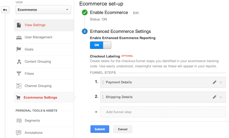 Enhanced Ecommerce helps ecommerce businesses view traffic from a granular shopping experience and product perspective.