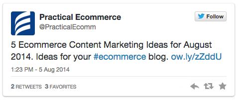 Practical Ecommerce embedded Tweet.