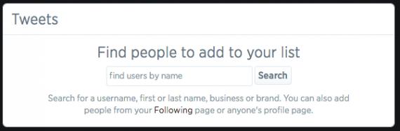 Twitter list search