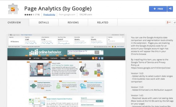 The Page Analytics Chrome extension is one of the best ways to view In-page Analytics.
