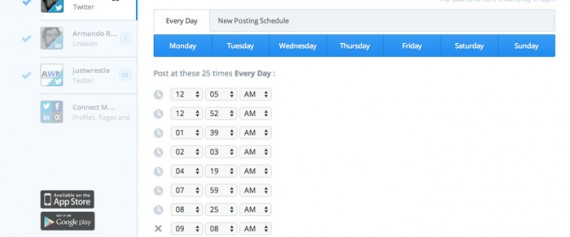 Buffer's scheduling tools are simple and effective.
