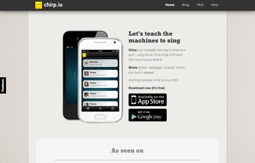 Chirp website