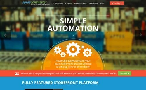 Spree Commerce website
