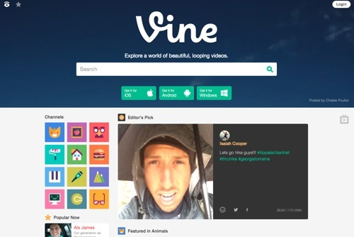 Vine website
