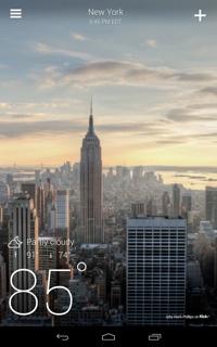 Yahoo Weather Widget app