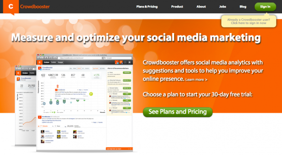 Crowdbooster emphasizes analytics and data mining.