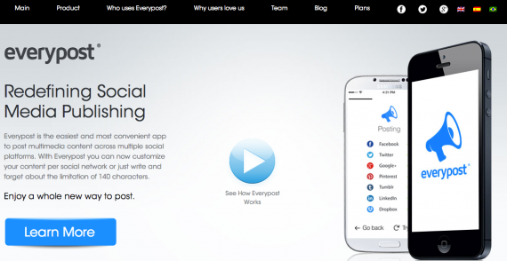 Everypost is a mobile-based social media management tool.