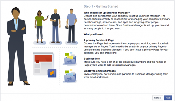 Log in to Business Manager using your personal Facebook username and password.