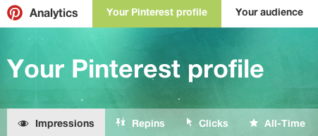 """Your Pinterest profile"" shows data related to your business profile."