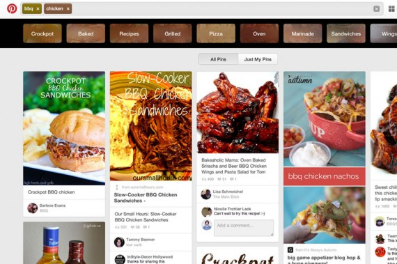 Pinterest's new Guided Search helps refine searches and promotes discovery.