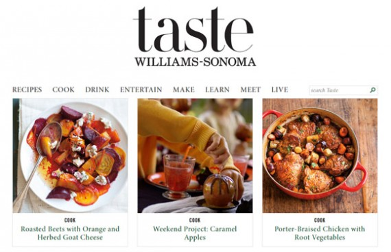 Williams-Sonoma's Taste blog provides useful information to readers.