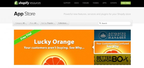 Many good ecommerce platforms have extension marketplaces, such as this one from Shopify.