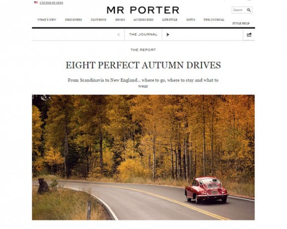 The Journal, Mr. Porter's Blog, includes list article that tie together content and products.