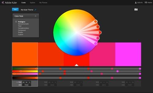 Adobe Kuler website
