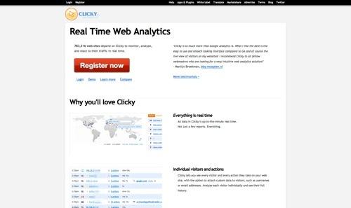 Clicky website