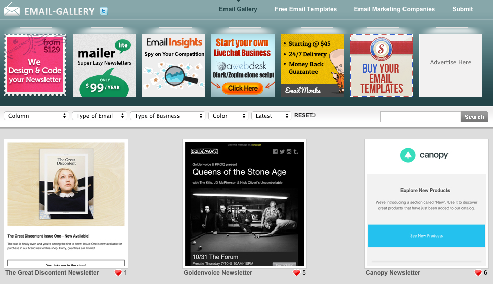 Email gallery sites can help generate ideas about your own design, messaging, or offers.