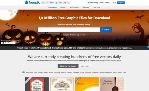 Freepik website
