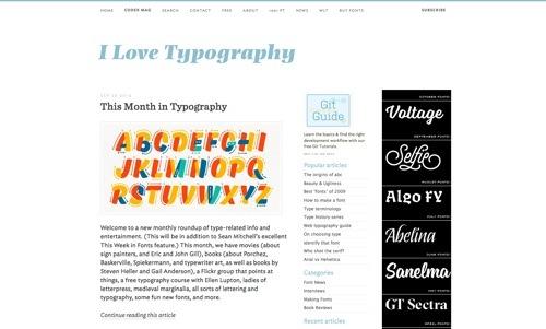 I Love Typography website