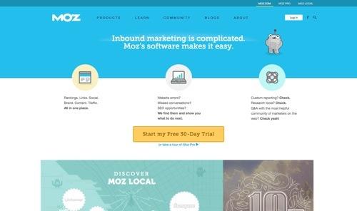 Moz Analytics website