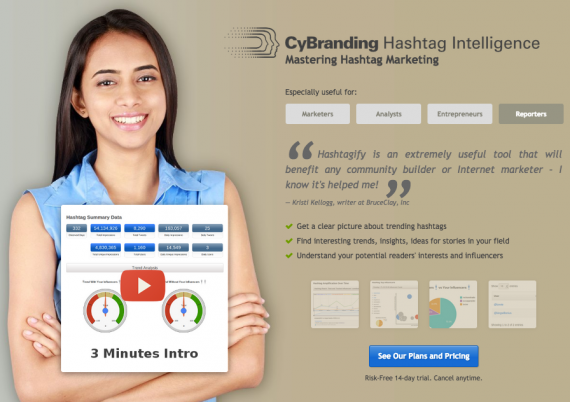Cybranding offers free and premium hashtag analytics tools.