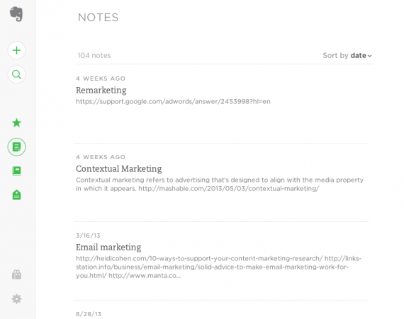 Evernote can become your blogging workbench.