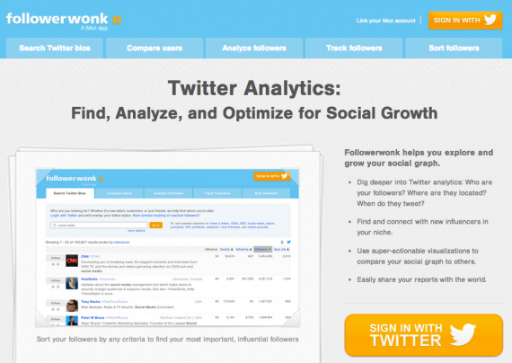 Followerwonk lets you find more information about your Twitter followers.