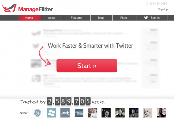 ManageFlitter allows users to sort, filter, and manage Twitter followers.