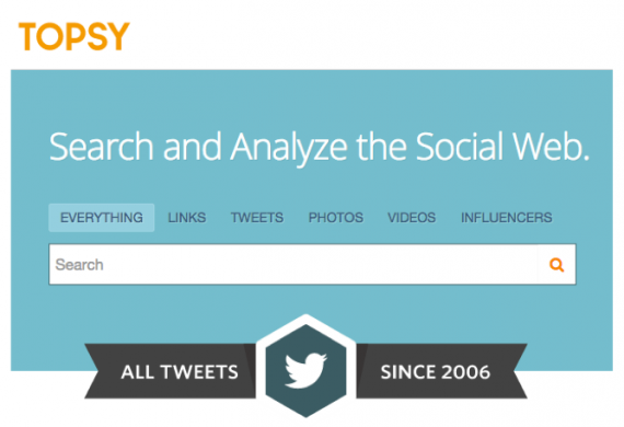 Topsy is a real-time Twitter search engine.