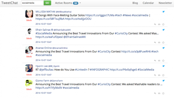 TweetChat lets you follow and run Twitter hashtag chats.